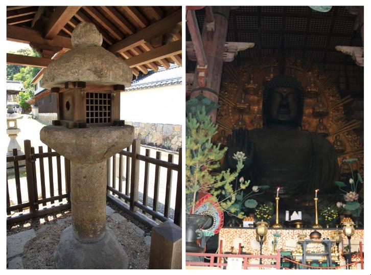 當麻寺にある日本最古の灯籠